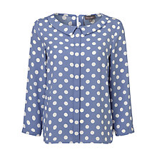 Buy Phase Eight Marilyn Spot Blouse, Bluebell/Ivory Online at johnlewis.com