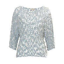 Buy Betty & Co. Chunky Knit Jumper, Blue/White Online at johnlewis.com