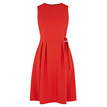 Buy Warehouse D-Ring Dress, Bright Red Online at johnlewis.com