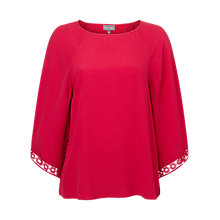 Buy Phase Eight Hena Crochet Top, Hot Pink Online at johnlewis.com