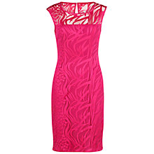 Buy Gina Bacconi Geo Animal Embroidery Dress, Fuchsia Online at johnlewis.com