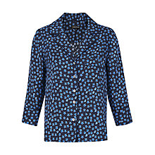 Buy Whistles Star Print Silk Shirt, Blue/Multi Online at johnlewis.com