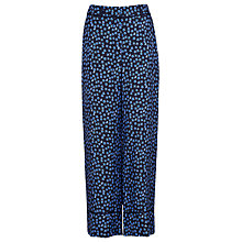 Buy Whistles Star Print Silk Trousers, Blue/Multi Online at johnlewis.com