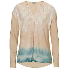 Buy Betty & Co. Printed V-Neck Blouse, Nature/Blue Online at johnlewis.com
