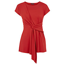 Buy Warehouse Drape Crepe Top, Bright Red Online at johnlewis.com