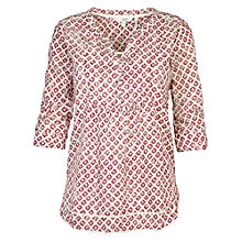 Buy Fat Face Poppy Rustic Tiles Popover Top, Ivory Online at johnlewis.com
