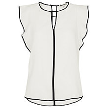 Buy Whistles Imelda Fluted Sleeve Top, Ivory Online at johnlewis.com