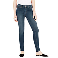 Buy Warehouse Powerhold Skinny Jeans, Mid Wash Denim Online at johnlewis.com