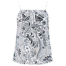 Buy Warehouse Stencil Floral Cami, Multi Online at johnlewis.com