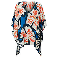 Buy East Dara Print Kaftan, Orange Online at johnlewis.com