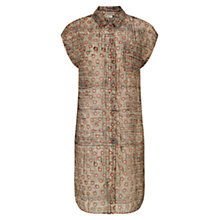 Buy East Spot Cotton Dress, Orange Online at johnlewis.com