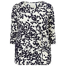 Buy Studio 8 Leah Jersey Top, Navy/Ivory Online at johnlewis.com