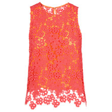 Buy Whistles Meadow Lace Top, Pink Online at johnlewis.com