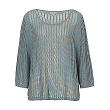 Buy Betty & Co. Open Knit Poncho Top, Smoky Blue Online at johnlewis.com
