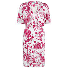 Buy Gina Bacconi Floral Stretch Cotton Dress And Jacket, Pink Online at johnlewis.com