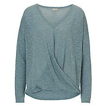 Buy Betty & Co. Wrapped Top, Smoky Blue Online at johnlewis.com