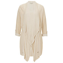Buy Betty & Co. Long Waterfall Cardigan, Sandshell Online at johnlewis.com