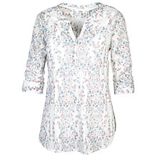 Buy Fat Face Poppy Sunset Popover Top, White Online at johnlewis.com