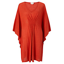 Buy East Linen Jersey Kaftan, Orange Online at johnlewis.com