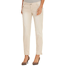 Buy Betty & Co. Textured Zip Hem Jeans, Sandshell Online at johnlewis.com