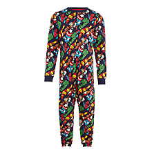 Buy John Lewis Boys' Marvel Onsie, Navy Online at johnlewis.com