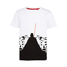Buy John Lewis Boys' Darth Vader T-Shirt, White Online at johnlewis.com