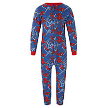 Buy John Lewis Boys' Spider-Man Onesie, Blue Online at johnlewis.com