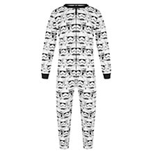 Buy John Lewis Boys' Star Wars Onesie, White Online at johnlewis.com