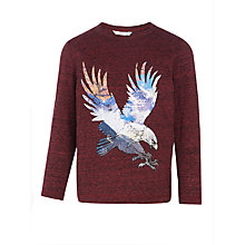 Buy John Lewis Boys' Eagle Print T-Shirt, Burgundy Online at johnlewis.com