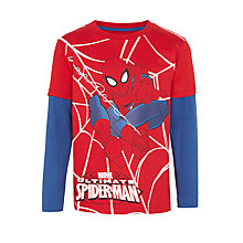 Buy Spider-Man Boys' Long Sleeve T-Shirt, Red Online at johnlewis.com