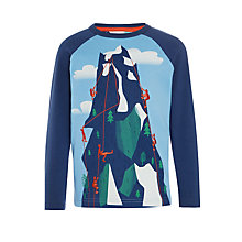 Buy John Lewis Boys' Rock Climbers T-Shirt, Blue/Navy Online at johnlewis.com
