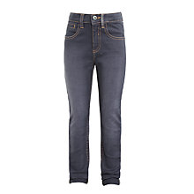 Buy John Lewis Boys' Washed Denim Skinny Jeans, Grey Online at johnlewis.com