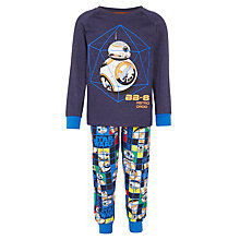 Buy Star Wars Children's BB8 Pyjamas, Navy Online at johnlewis.com