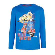 Buy John Lewis Boys' Minions Invasion T-Shirt, Blue Online at johnlewis.com
