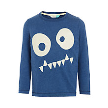 Buy John Lewis Boys' Spooky Face Glow In The Dark T-Shirt, Navy Online at johnlewis.com