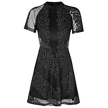 Buy True Decadence Lace Skater Dress, Black Online at johnlewis.com