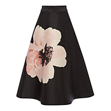 Buy Coast Rosanna Petal Skirt, Black Online at johnlewis.com