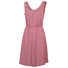 Buy Fat Face Sian Striped Dress, British Plum Online at johnlewis.com