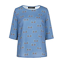 Buy Sugarhill Boutique Alexa Folk Birdie Top, Blue Online at johnlewis.com