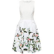 Buy Ted Baker Karolie Secret Trellis Print Dress, Cream Online at johnlewis.com