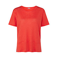 Buy Jigsaw Linen Jersey Panel Hem Tee Online at johnlewis.com
