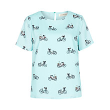 Buy Sugarhill Boutique Lola Weekend Bike Ride Top, Aqua Online at johnlewis.com