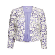 Buy Gina Bacconi Daisy Embroidered Jacket, Spring Lavender Online at johnlewis.com