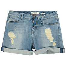 Buy Fat Face Denim Shorts, Blue Online at johnlewis.com