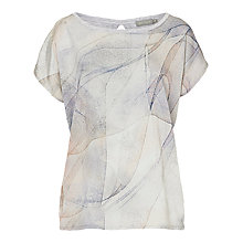 Buy Betty & Co. Marble Print Cotton Top, Cream/Silver Online at johnlewis.com