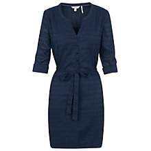 Buy Fat Face Lara Broderie Shirt Dress, Indigo Online at johnlewis.com