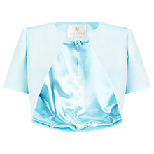 Buy Jacques Vert Satin Bolero, Light Blue Online at johnlewis.com