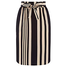 Buy Oasis Paperbag Stripe Skirt, Multi Black Online at johnlewis.com