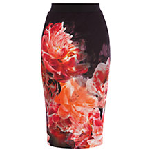 Buy Coast Peony Bloom Pencil Skirt, Multi Online at johnlewis.com