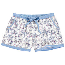 Buy Fat Face Print Shorts, Blue Online at johnlewis.com